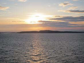 Photo: First Norwegian sunset