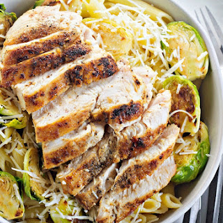 Chicken Pasta with Brussel Sprouts.