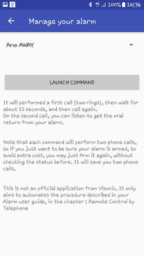 VISONIC PowerMaster Alarm manager Unofficial screenshot 3