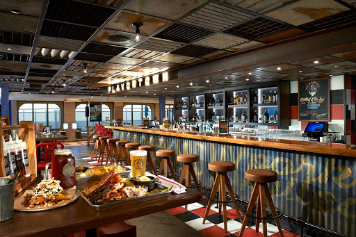 Like beer and BBQ? Head to Pig and Anchor Smokehouse on Carnival Panorama.