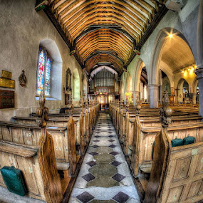 St Clement's Church, Leigh on Sea. HDR from 5 images taken with my Canon 7D and Samyang 8mm lens. by Christine Ayre - Buildings & Architecture Places of Worship