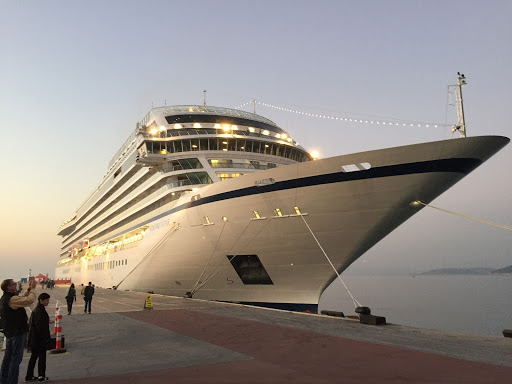 Viking-Star-at-dusk.jpg - Viking Star at dusk, docked in Kusadasi, Turkey.