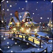 Christmas Winter Snow Night Live Wallpaper