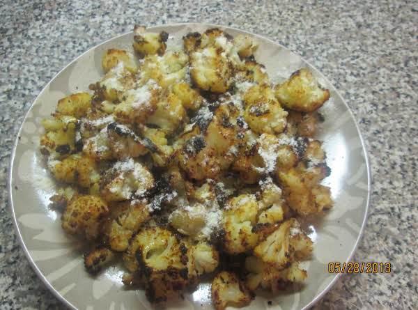 Roasted Cauliflower W/parmesan & White Truffle Oil