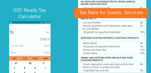 gst calculator tax rate apps on google play