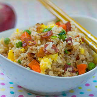 Quick and Easy Bacon Fried Rice.