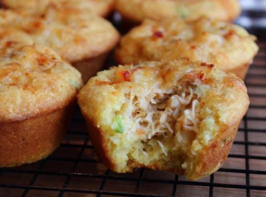 Cornmeal Crab Muffins Recipe