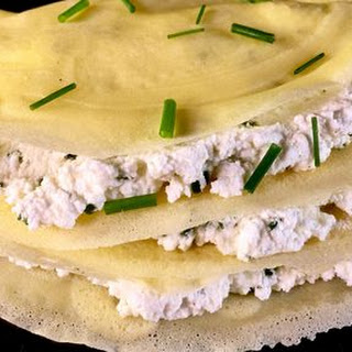 Crepes with Ricotta and Chives.