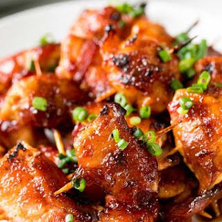 Bacon Wrapped Chicken Bites.