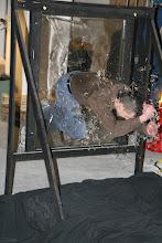 Photo: Silly ol' Tim jumps through a window
