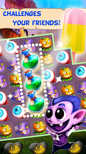Halloween Witch - Fruit Puzzle apklade screenshots 2