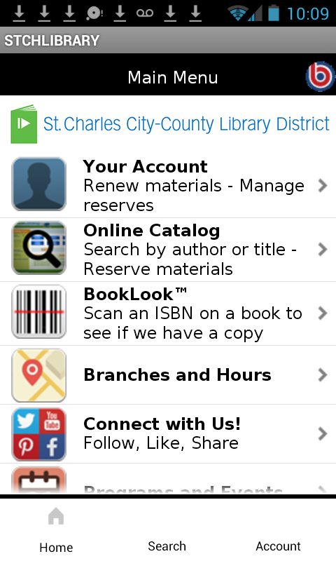 St Charles City-County Library- screenshot