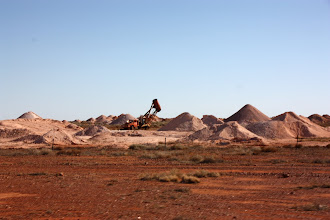Photo: Year 2 Day 220 -  Mining for Opals at Coober Pedy, with Blower Equipment