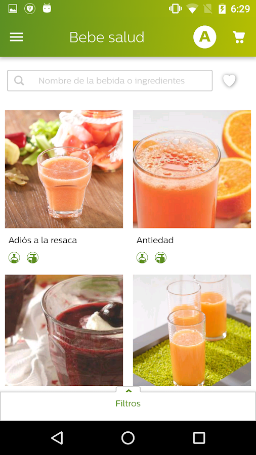 Healthy Drinks- screenshot