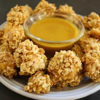 Honey Mustard Popcorn Chicken- Oven Baked Crispy.