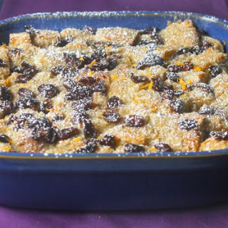 Port Soaked Cranberry Bread Pudding.