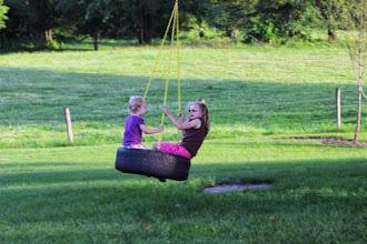 Photo: Hailey & Carly Swinging
