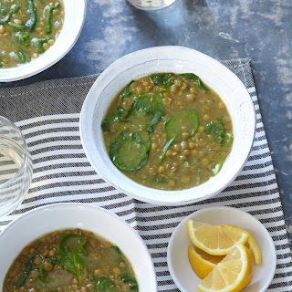 Ethiopian-Style Spinach & Lentil Soup.