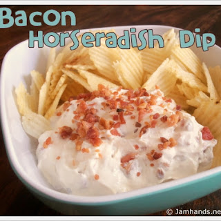 Bacon Horseradish Chip Dip Recipe