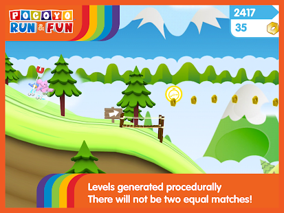 Pocoyo Run & Fun: Cartoon Jump and Running games Screenshot