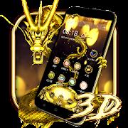3D Gold Dragon Theme