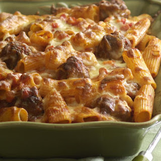 Baked Rigatoni and Meatballs