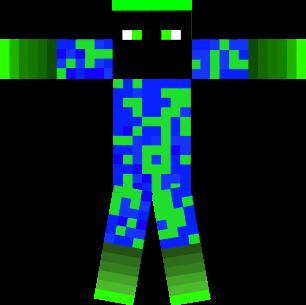 green blue yellow man