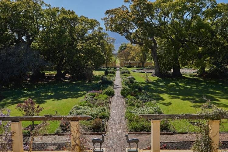 The beautiful Octagonal Garden viewed from the Vergelegen homestead