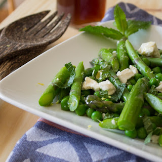 Asparagus Pea and Feta Salad with Lemon Balm Vinaigrette