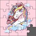 Kawaii Unicorn : Jigsaw Puzzle Games for Girls icon