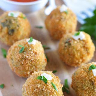 Spinach-Artichoke Risotto Balls (Arancini)