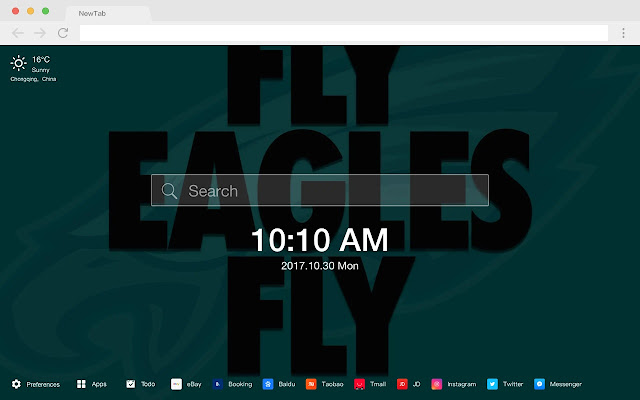 Philadelphia Eagles HD Sports New Tabs Theme