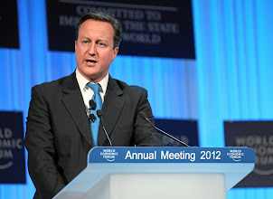 Photo: DAVOS/SWITZERLAND, 26JAN12 -  David Cameron, Prime Minister of the United Kingdom captured during the session 'Special Address' at the Annual Meeting 2012 of the World Economic Forum at the congress centre in Davos, Switzerland, January 26, 2012.  Copyright by World Economic Forum swiss-image.ch/Photo by Moritz Hager