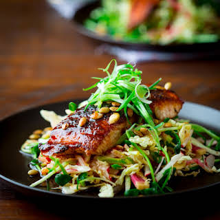 Jerk Spice Salmon with Hot and Sweet Slaw {paleo and gluten-free}.