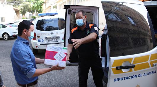 27 municipios almerienses reciben más de 125.000 mascarillas de Diputación