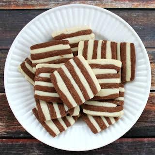 Striped Shortbread.