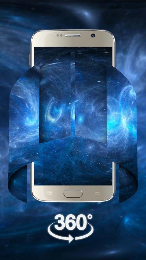 Space Galaxy 3D live wallpaper (VR Panoramic)- screenshot