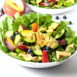 Nectarine Avocado Salad with Smoked Paprika.