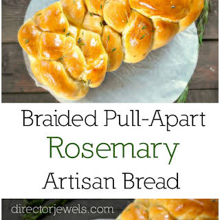 Braided Pull-Apart Rosemary Artisan Bread.