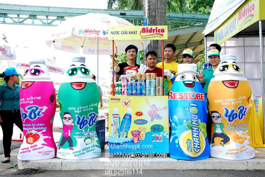 mascot chai nước ngọt bidrico