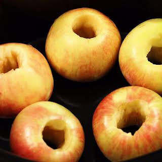 Slow Cooker Cinnamon Oat Stuffed Apples.