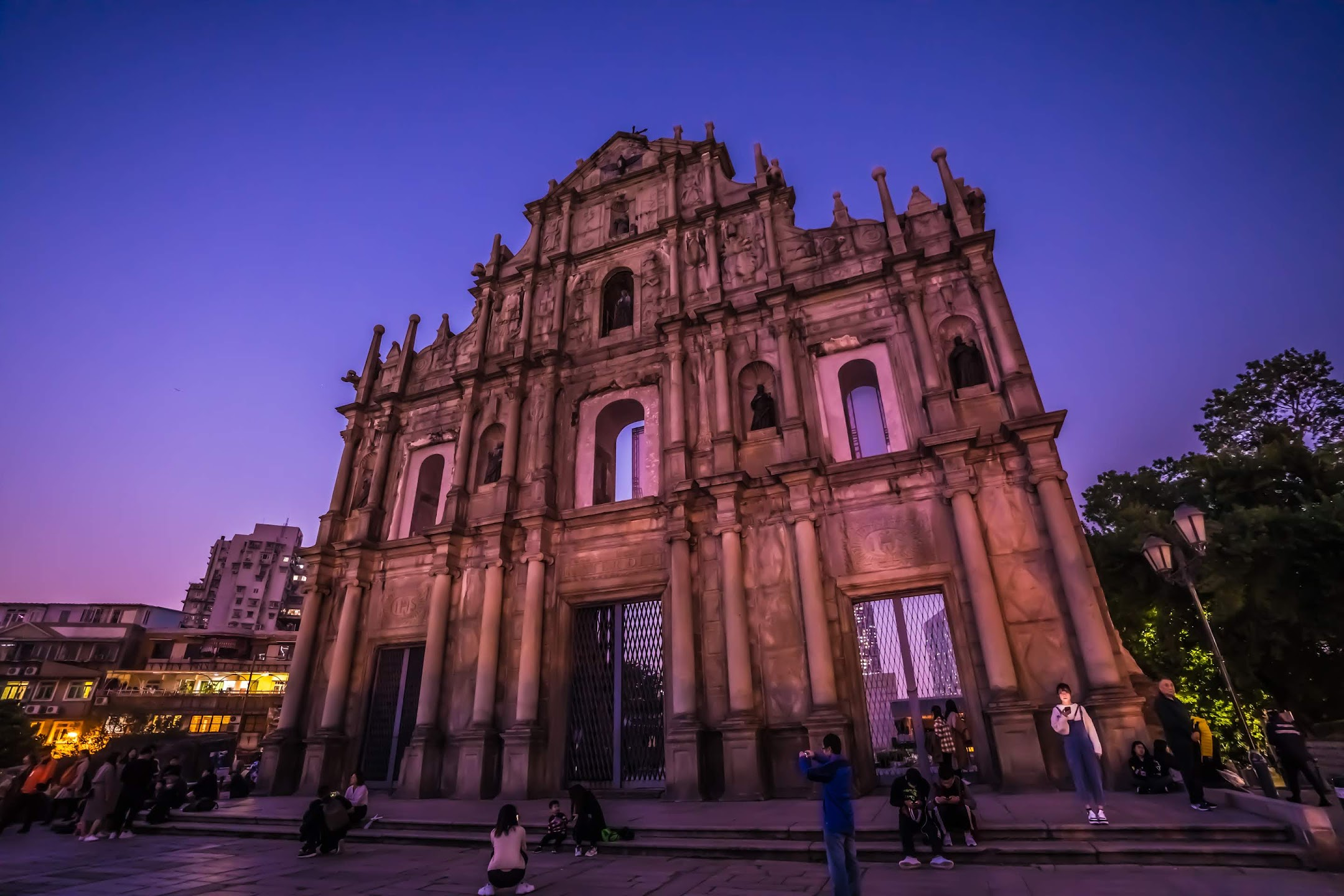Macau Ruins of St. Paul's evening3
