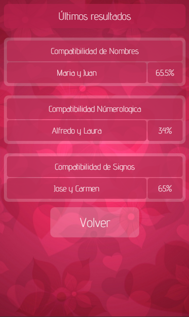 Compatibilidad de Parejas- screenshot