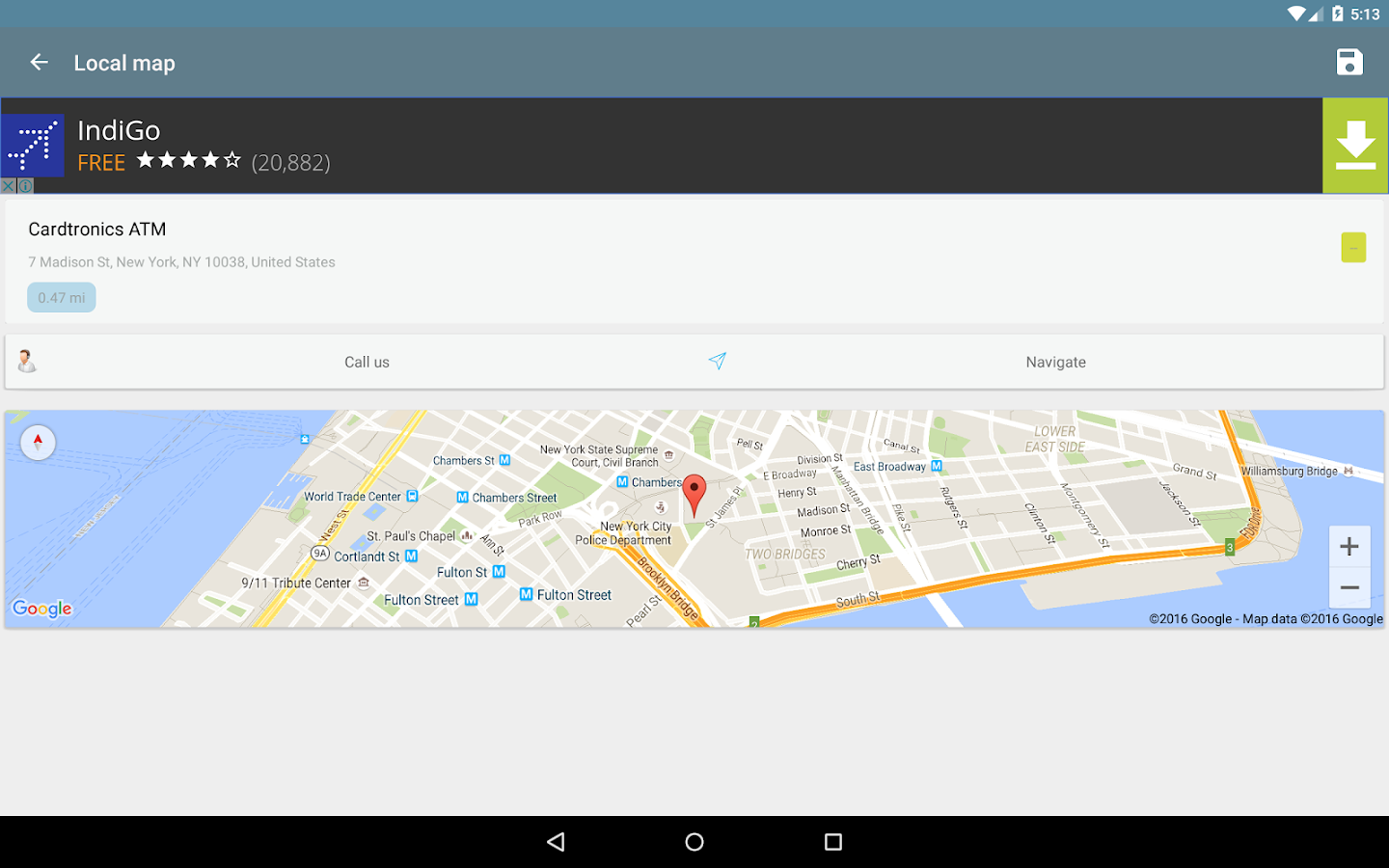 Local Map  Maps Directions GPS  Navigation Android Apps On - Download nyc google map