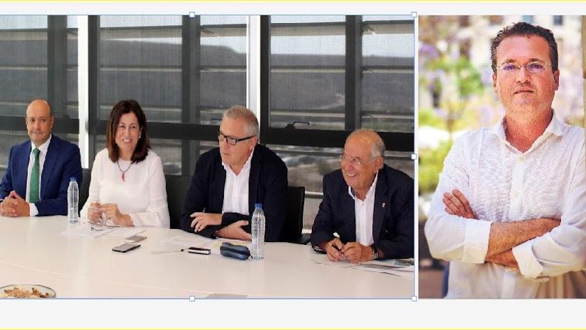 Representantes  del Parque Tecnológico el pasado mes de julio en la presentación del último Balance. A la derecha Diego Clemente Giménez.