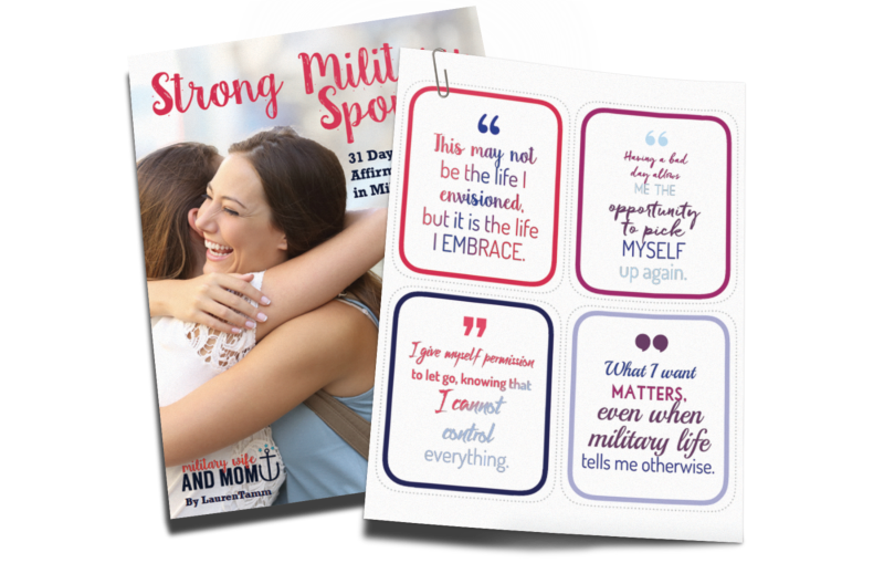 Printable positive affirmations for military spouses