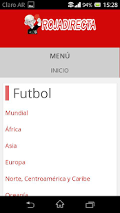 Roja Directa Futbol Screenshot