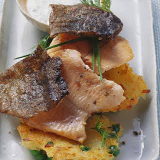 Trout with Potato Cakes.