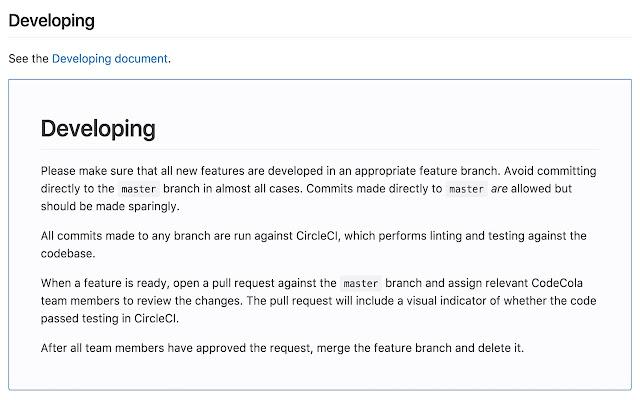 Embed GitHub Markdown Links