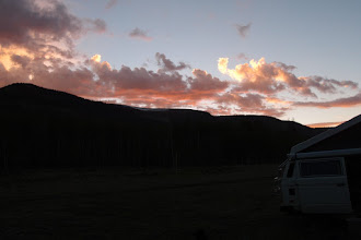 Photo: Sunset sky over Sheep Mtn to the W